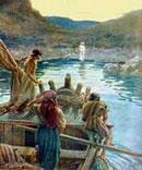 Jesús en el mar de Tiberíades