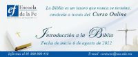 Curso On line  Escuela de la FE: Introduccin a la Biblia